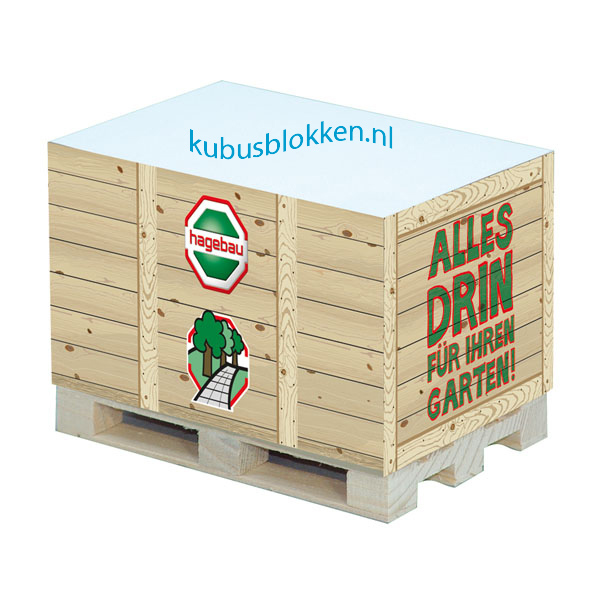kubusblok houten krat